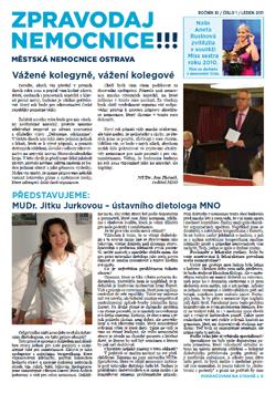 Zpravodaj nemocnice: leden 2011