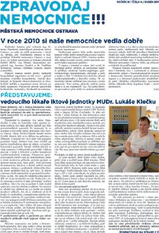 Zpravodaj nemocnice: duben 2011