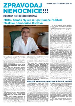 Zpravodaj nemocnice: červenec-srpen 2011