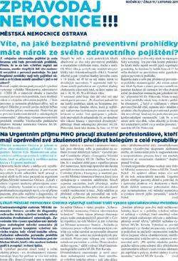 Zpravodaj nemocnice: listopad 2011