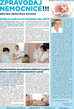 Zpravodaj nemocnice: leden 2013