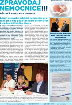 Zpravodaj nemocnice: březen 2013