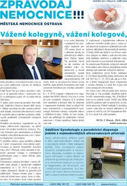 Zpravodaj nemocnice: září 2014