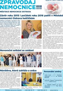 Zpravodaj nemocnice: leden 2016